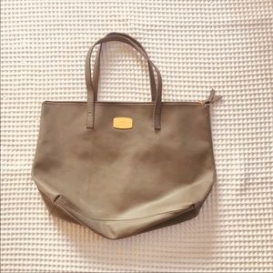 ✨SOLD✨🍃Joy Mongano 🍃Gray leather tote